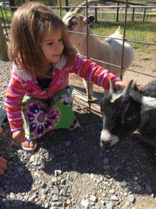 Azelia Ortiz enjoying the animals at the Safari Park in Virginia while traveling on deputation.